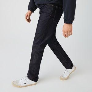Lacoste men's dark wash straight leg denim jeans